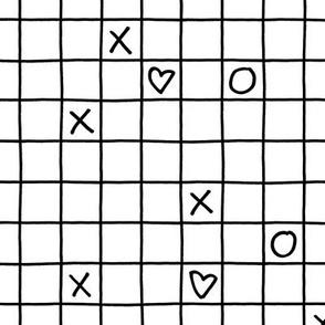 XO XO Grid small –black white