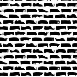Dotted Stripes – black white