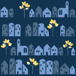 Ronneby Wallpaper (Midnight Blues)