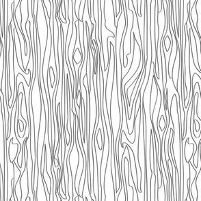 Woodgrain - Charcoal on White