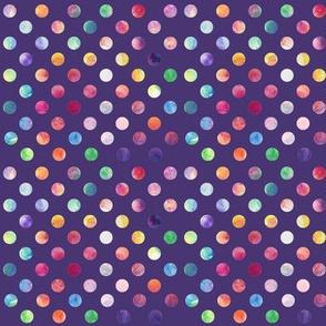 Watercolour Dots (purple variant)