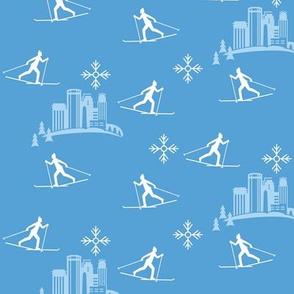 Minneapolis Skier, blue