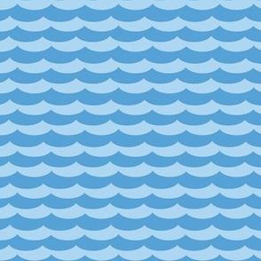 Waves, blue