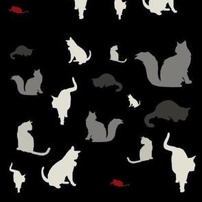Mouse Hunt (black, white & red variant)