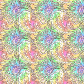 Paisley Doodle (Rainbow)