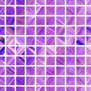 Watercolor Grid (Bright Purple)