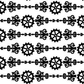 Steampunk Gears and Flourish