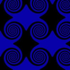 Black and Blue Spirals