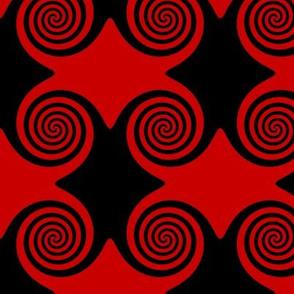 Black and Red Swirls