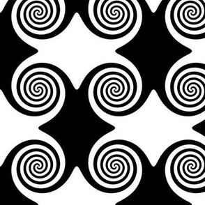 Black and White Spirals