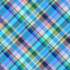 Mostly Blue Madras Plaid