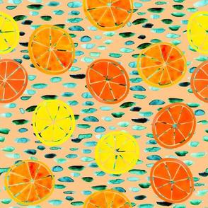 Citrus on Peach