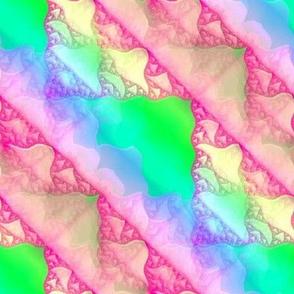 Bright Pastel Sierpinski fractal 8x8