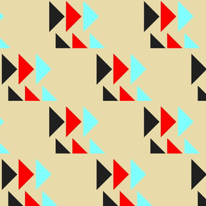 Tribal Triangles on Gold