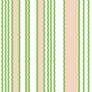 Green grass and White Stripe_Miss Chiff Designs