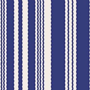 16-02ak Navy Squiggle Stripes on Cream_Miss Chiff Designs