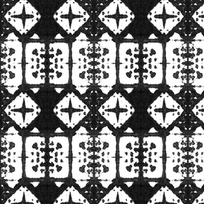 Shibori Windows - Charcoal Black