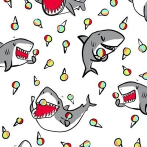sharks + shave ice