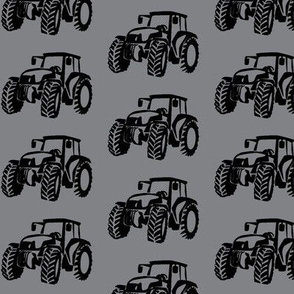 Tractors grey/black small scale