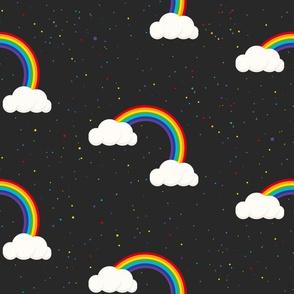 Night sky and Rainbows