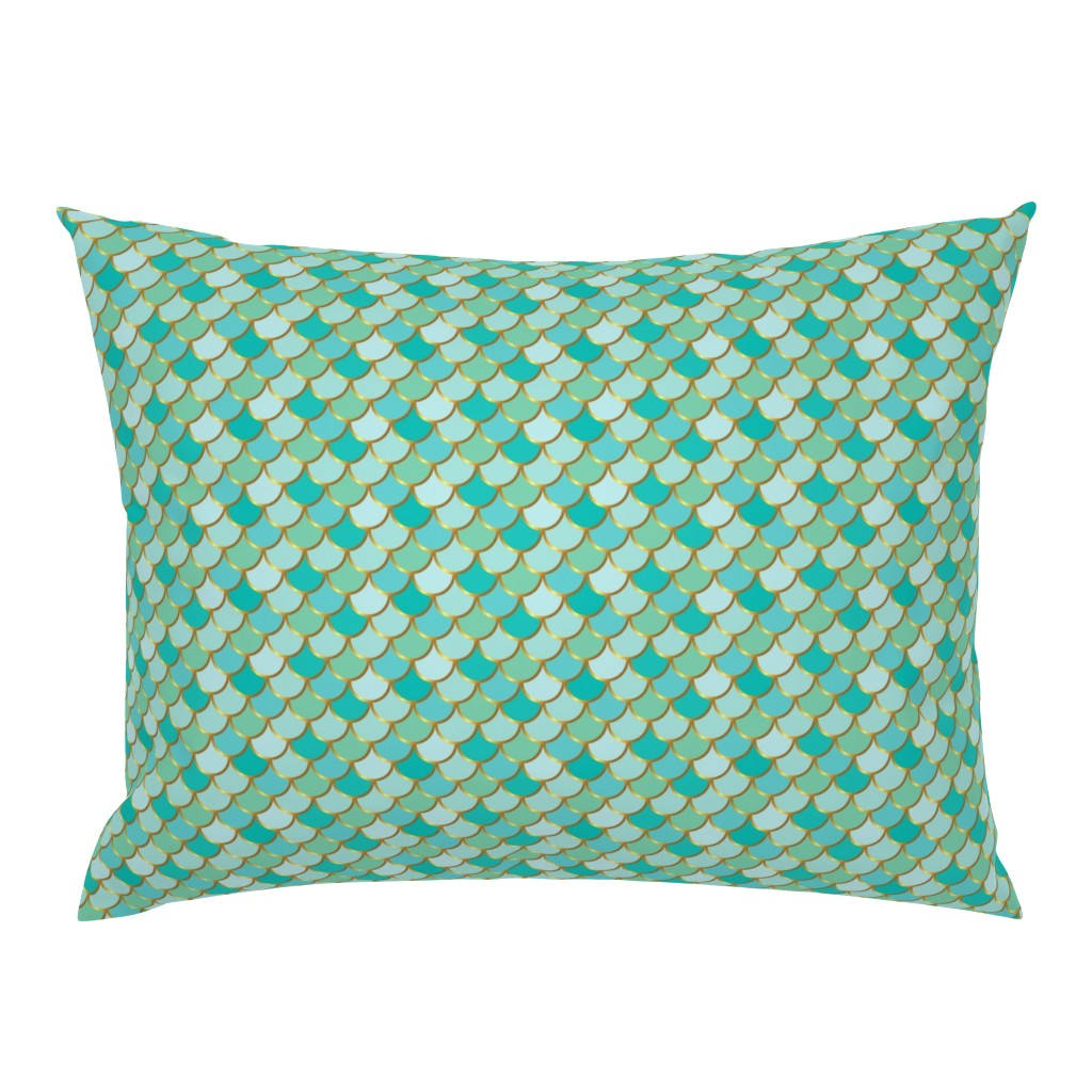 Campine Pillow Sham featuring Sea Green Mermaid Tail by katebillingsley
