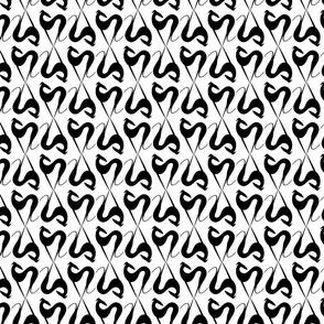 hearts black-white