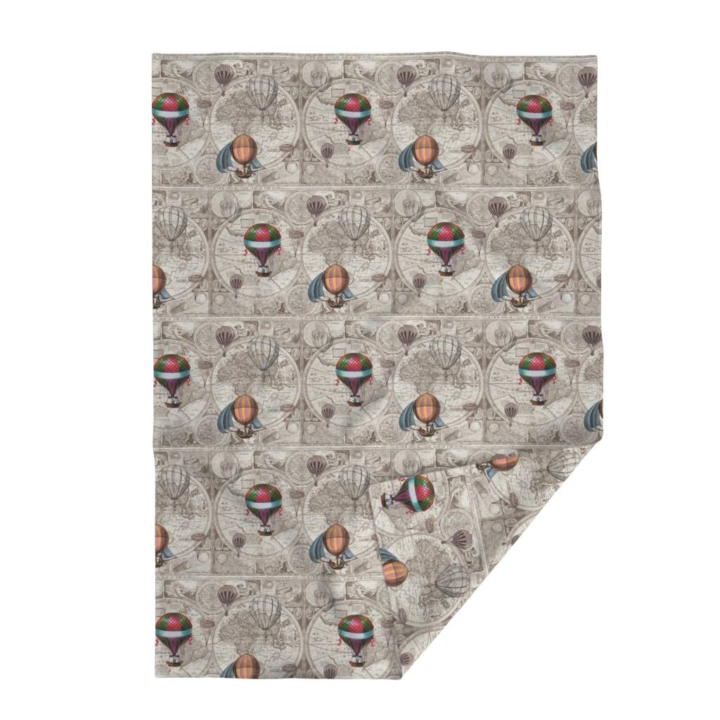 Lakenvelder Throw Blanket featuring Steampunk Map by aftermyart