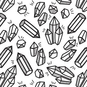 Black line crystals