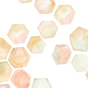Watercolor honeycomb