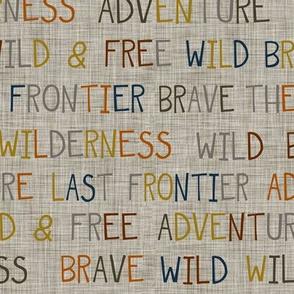 Adventure Wilderness Words