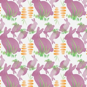 Easter Bunny Eating Carrot Vegetable Food_Miss Chiff Designs