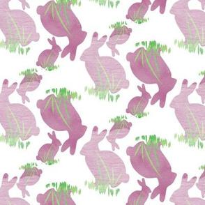 Purple Rabbit Watercolor on White_Miss Chiff Designs