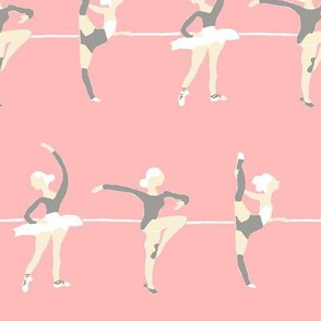 Ballerina in a line  pink/ charcoal