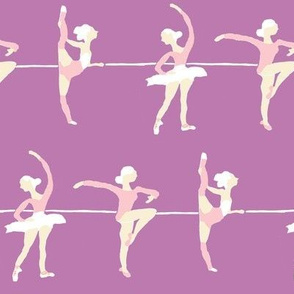 Retro style ballet class in lilac