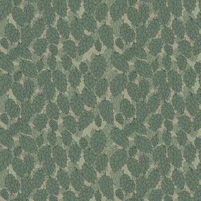 Green Hops in an Old Linen Poke