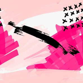 Abstract pink with black grunge