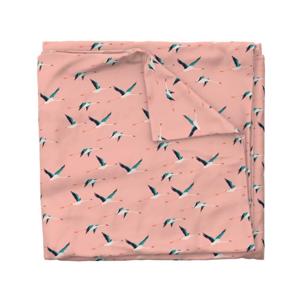 Wyandotte Duvet Cover featuring flamingo_coastal by holli_zollinger