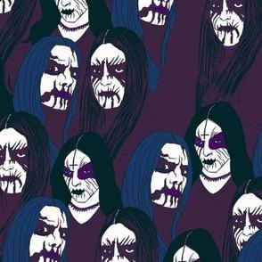 Black metal blue/purple/black
