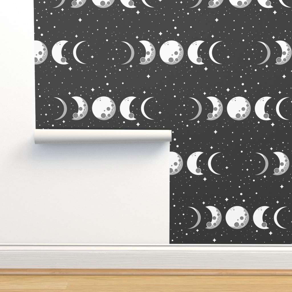 Moon Phases On Isobar By Cloudsfactory Roostery Home Decor