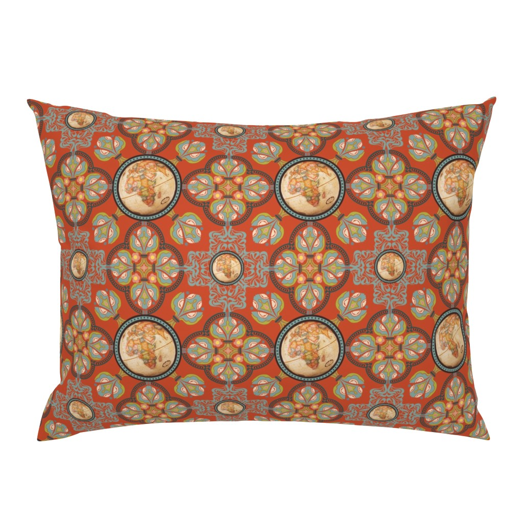 Campine Pillow Sham featuring World Nouveau by cksstudio80