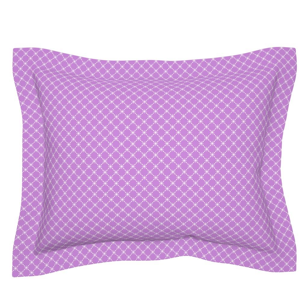 Sebright Pillow Sham featuring Lattice* (Lavender Disaster) || midcentury modern farm vintage retro kitchen chicken wire starburst pastel by pennycandy