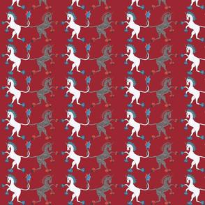 Medieval Unicorn Red