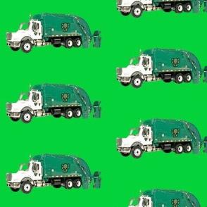 Tossed Garbage Trucks on Green