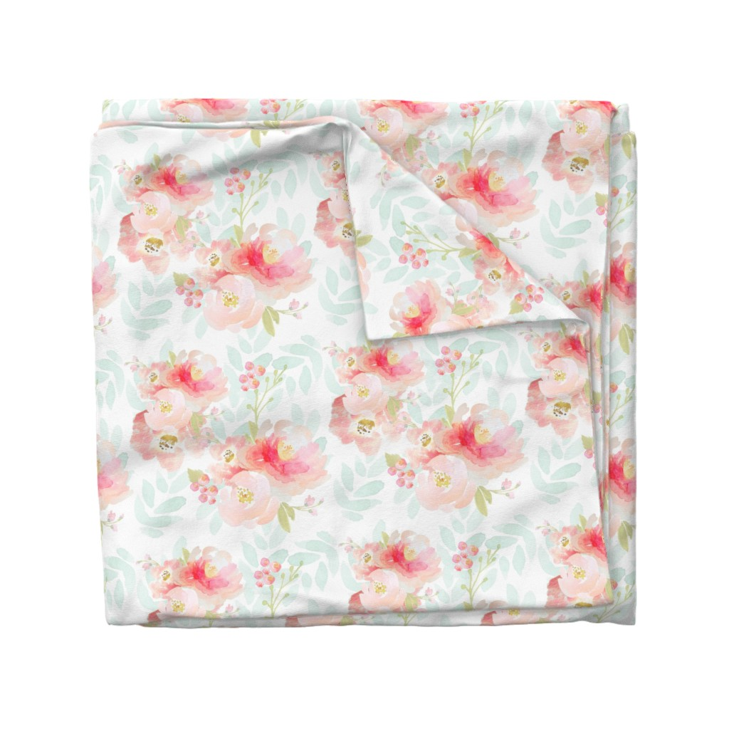 Wyandotte Duvet Cover featuring Indy Bloom Pink Plush Florals A by indybloomdesign