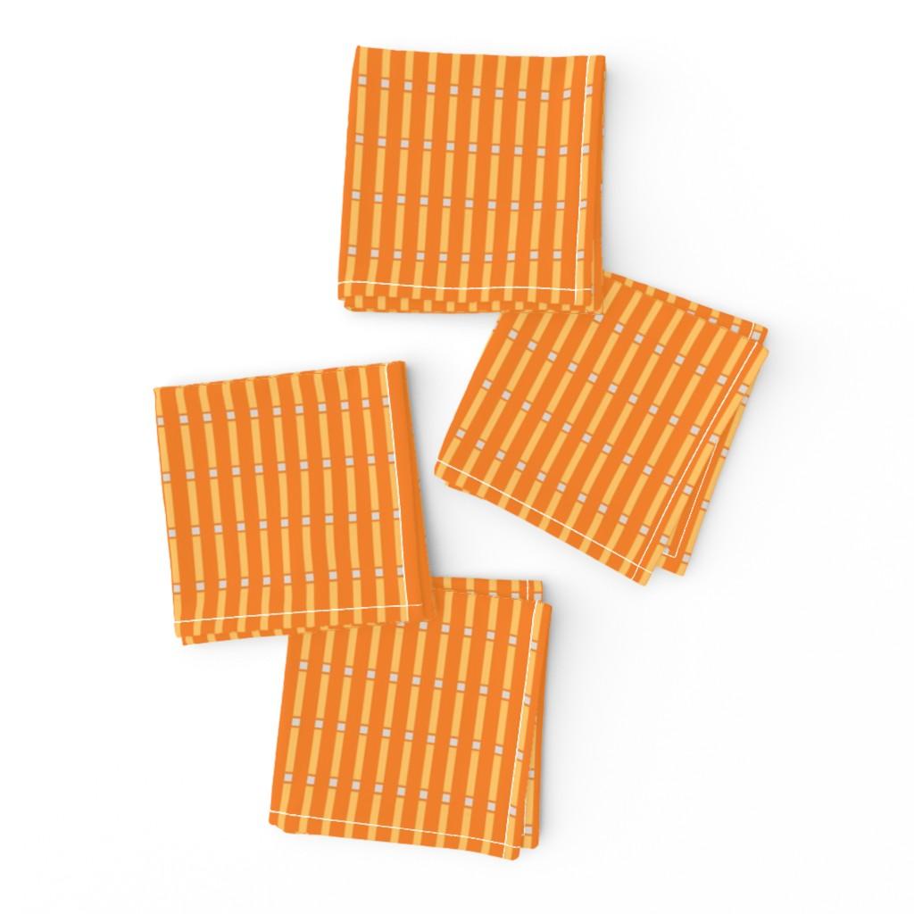 Frizzle Cocktail Napkins featuring Box Stripe in orange by cindylindgren