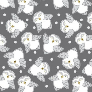 Snow Owls in gray