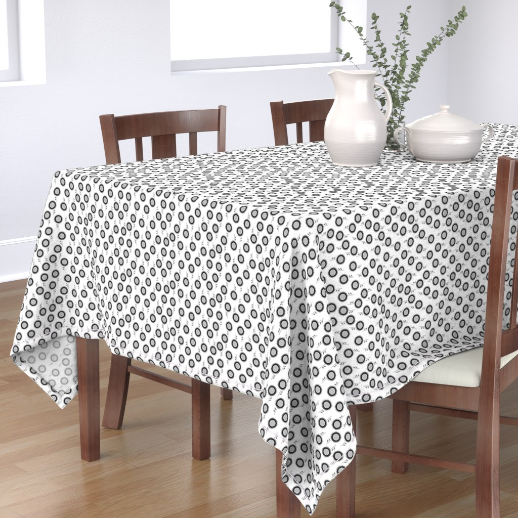 Bantam Rectangular Tablecloth featuring Spike flowers in B&W by cindylindgren