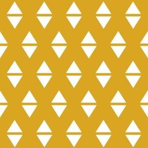 yellow triangles mustard golden yellow
