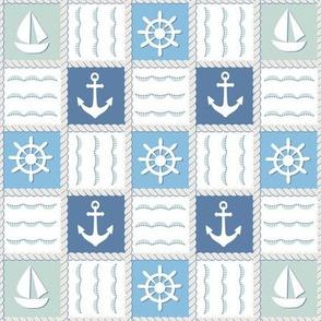 Blue marine pattern