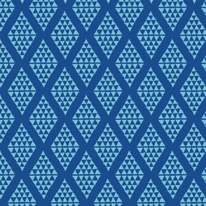 Diamonds and Triangles in Classic Blue